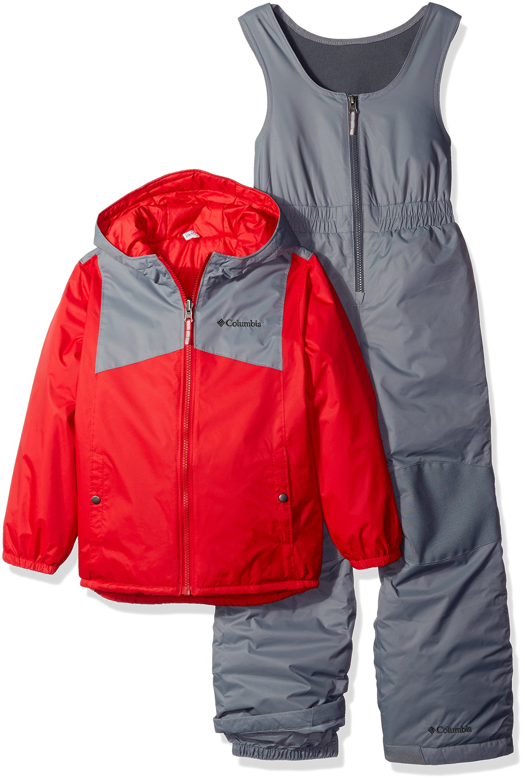 Columbia Little Boys' Toddler Double Flake Set, Mountain Red, 2T by Columbia