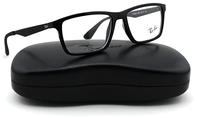 626d6768acff Amazon.com  Ray-Ban RX7056 Unisex Eyeglasses (Shiny Black Frame 2000 ...