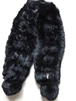 Real Whole Rabbit Fur Scarf Warm Wearing Convenient Multiple Color Options