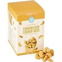 Amazon merk - Happy Belly gekarameliseerde cashewnoten, 120 g x 4