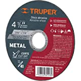 Truper ABT-786, Disco abrasivo para corte de metal, uso general, 2 mm, 4 1/2""