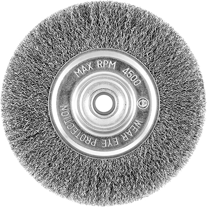 EAB Tool 2160448 6 Coarse Wheel Carbon Steel Industrial Wire Brush-Recyclable