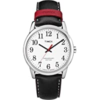 Timex Men's TW2R40000 Easy Reader 40th Anniversary Black/White Leather Strap Watch