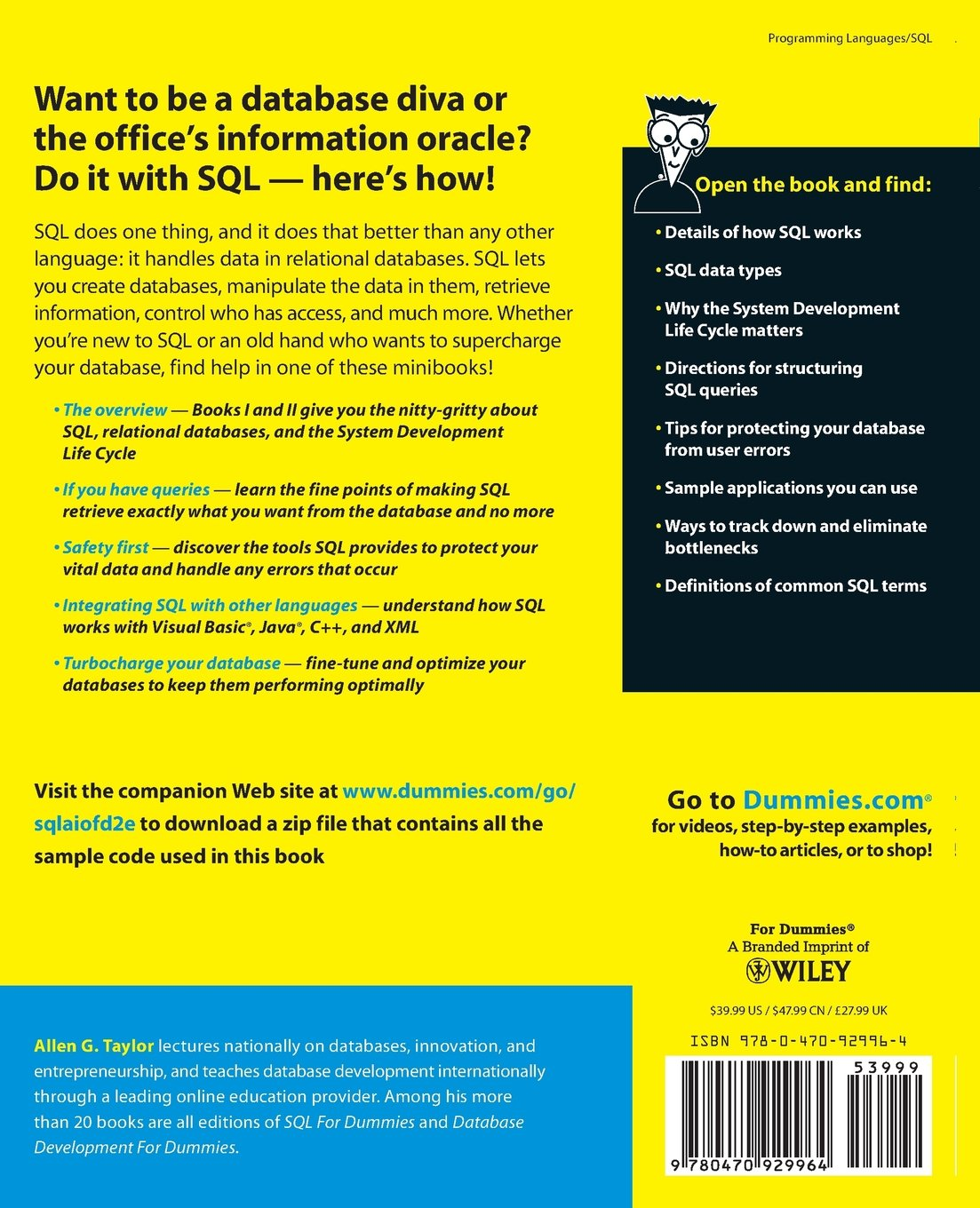 SQL All-in-One For Dummies: Amazon.co.uk: Allen G. Taylor: 8581000054368:  Books