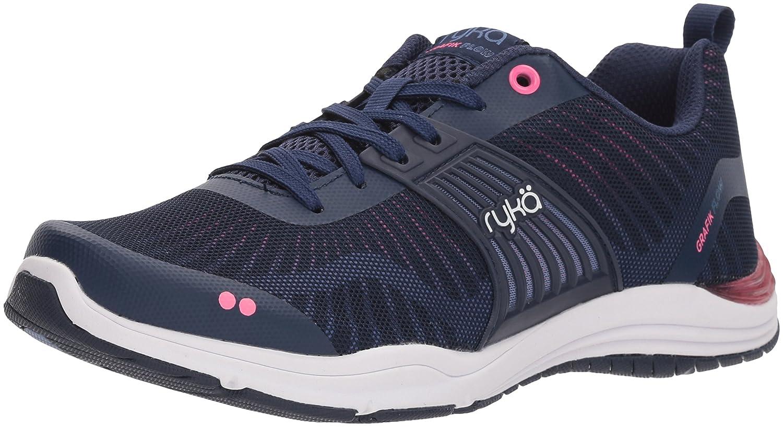Ryka Women's Grafik Flow Cross Trainer B0771QQCGR 7 B(M) US|Blue/Pink