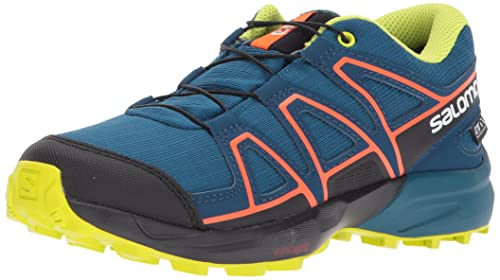 Salomon Speedcross CSWP J, Scarpe da Trail Running Unisex-bambini, Blu  (Moroccan