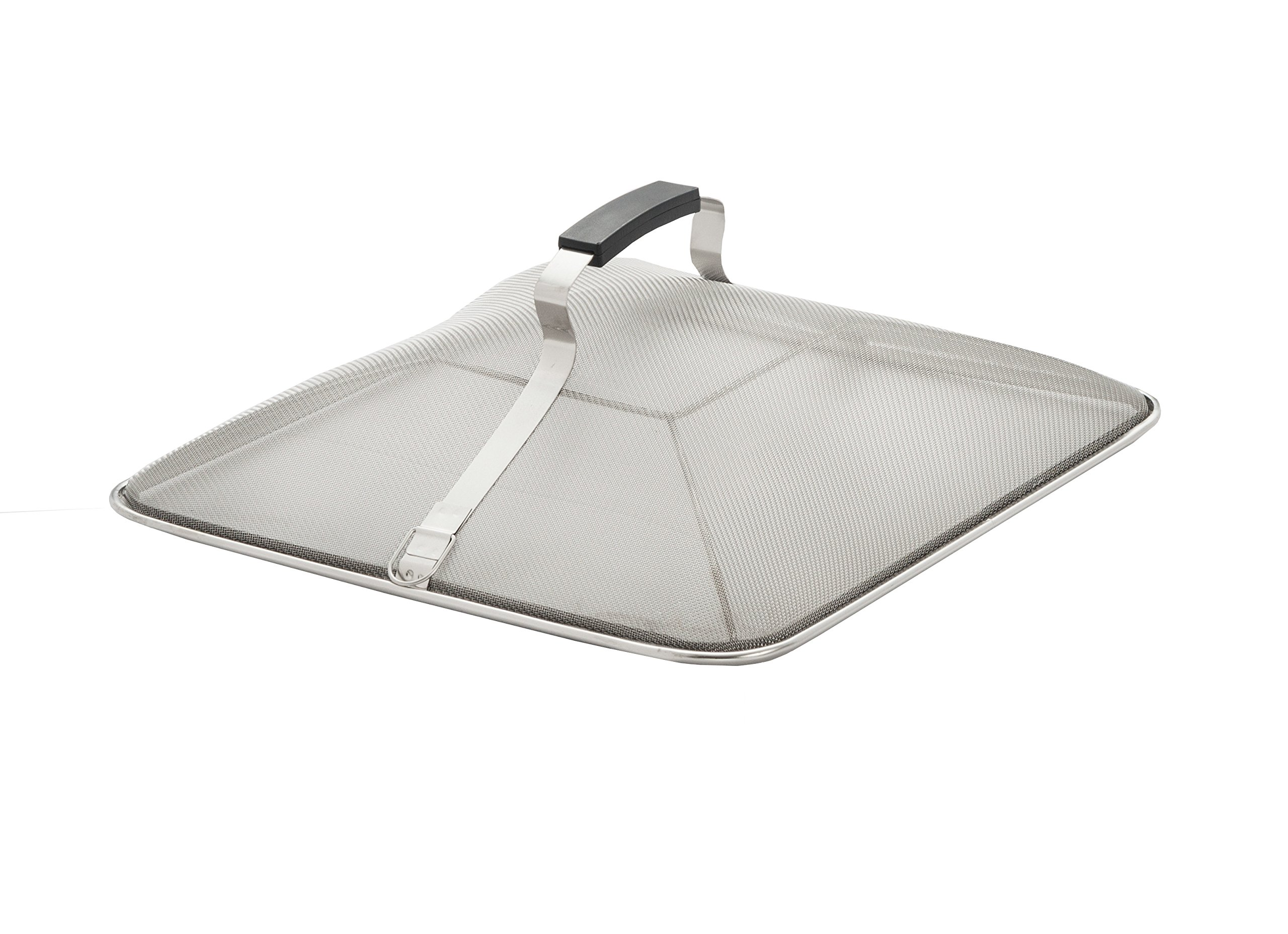 Excelsteel Stainless Steel 12-1/4-Inch Square Splatter Screen