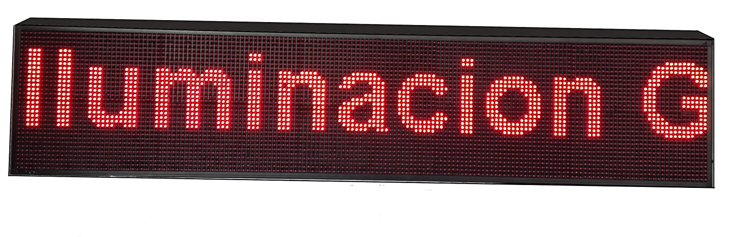 CARTEL LED PROGRAMABLE LETRERO LED PROGRAMABLE (160 * 32 cm, ROJO) PANTALLA LED PROGRAMABLE ROTULO LED PROGRAMABLE CARTEL ELECTRÓNICO ANUNCIA TU ...