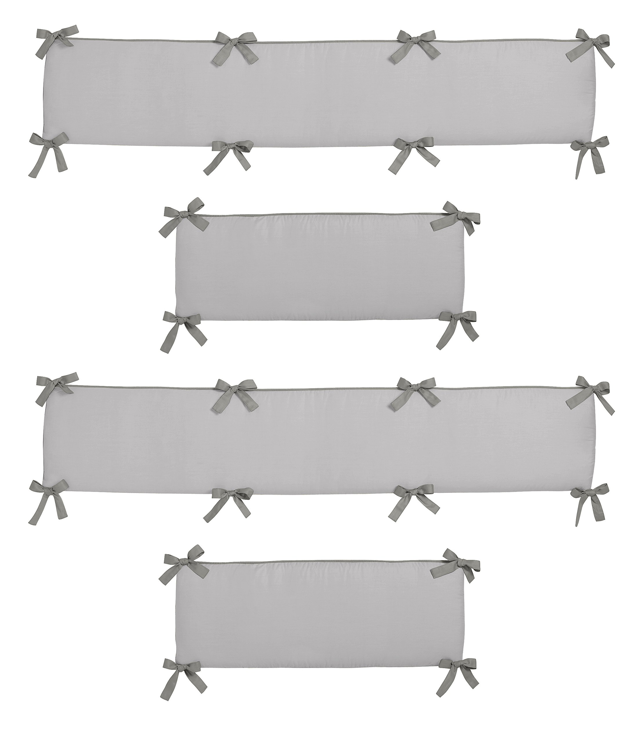 Sweet Jojo Designs Grey and White Wood Grain Baby Crib Bumper Pad for Woodsy Collection by by Sweet Jojo Designs (Image #2)