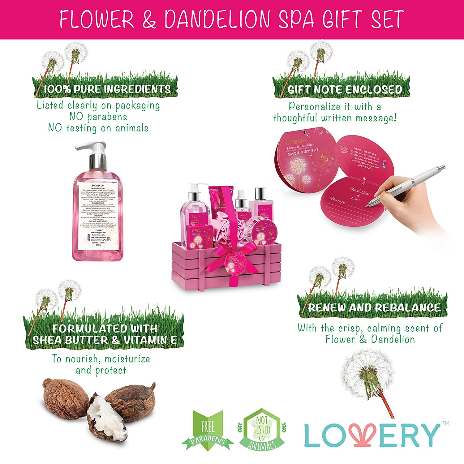 Amazoncom Gift Baskets For Women, Lovery Spa Gift Set For