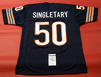 MIKE SINGLETARY AUTOGRAPHED CHICAGO BEARS JERSEY JSA HOF 98 at ...
