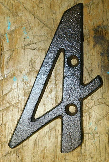 Rustic BROWN Cast Iron Metal House Numbers Street Address 6 1//4 INCH Phone #/'s 8