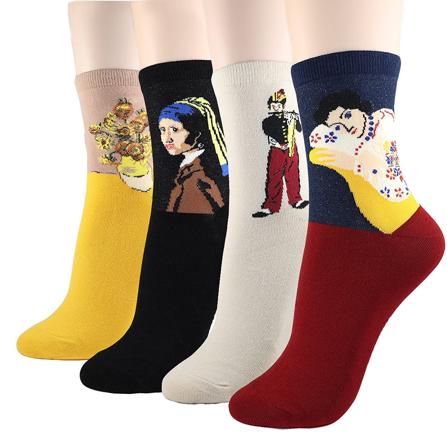 DearMy Womens Famous Cartoon Japanese Animation Print Casual Cotton Blend Crew Socks | Art Patterned| Fancy Design Crew Socks