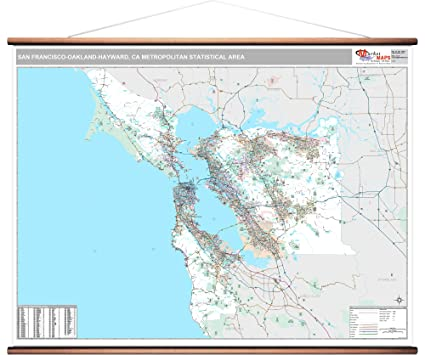 Amazon Com Marketmaps San Francisco Oakland Hayward Ca Metro Area