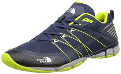 The North Face Mens Litewave Ampere, Cosmic Blue/Latern Green 11.5 D - Medium