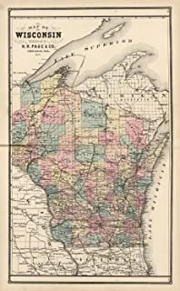 Amazon.com : 13x19 Wisconsin General Reference Wall Map - Anchor ...