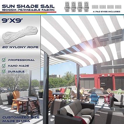 Windscreen4less - Toldo Rectangular de 20 x 30 cm, Resistente a los Rayos UV, toldo para Patio o al Aire Libre - Personalizable: Amazon.es: Jardín