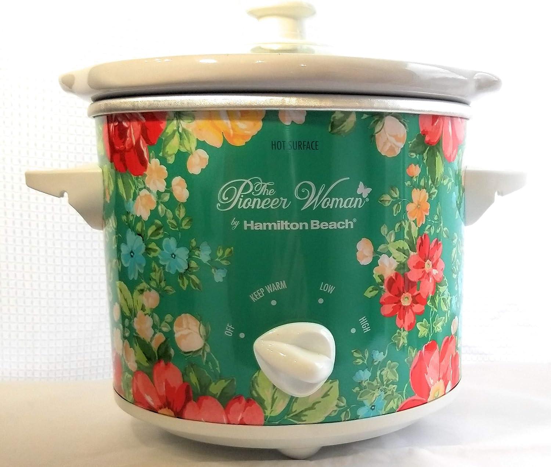Pioneer Woman 6 Quart Portable Slow Cooker Vintage Floral Home Oval Crock Pot