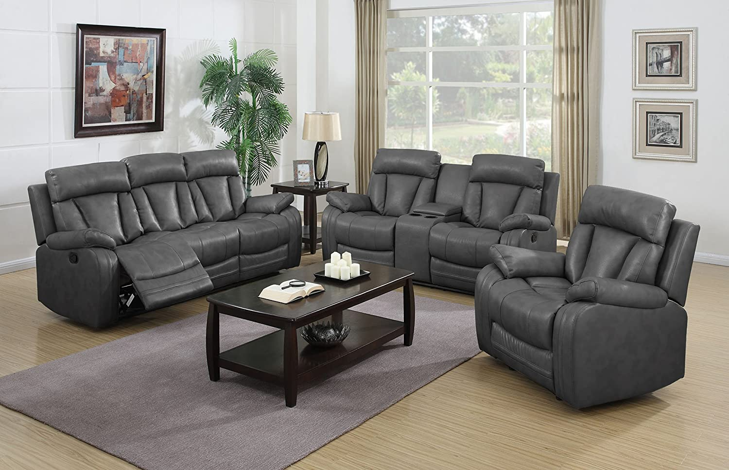 Amazon.com: NHI Express Benjamin Motion Sofa Set (1 Pack ...