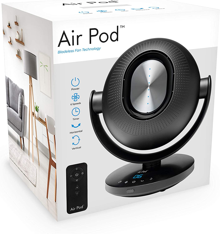 Air Pod 40029 - Ventilador oscilante sin aspas, 6 velocidades de ...