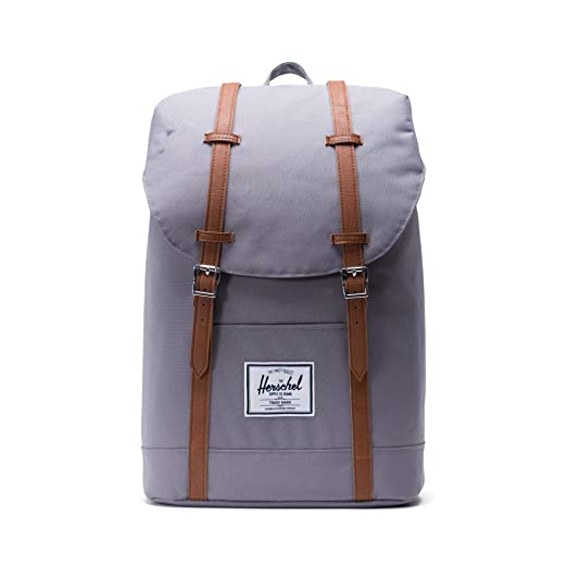 Herschel 10066-00006 Retreat Backpack Rucksack, 1 Liter, Grau/Tan
