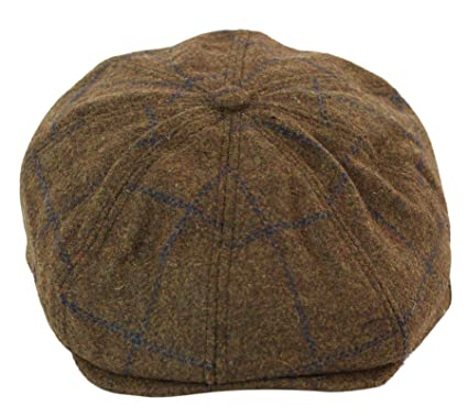 9050ae3d2 Tweed Newsboy Cap Peaky Blinders Baker Boy Flat Check Grandad Hat ...