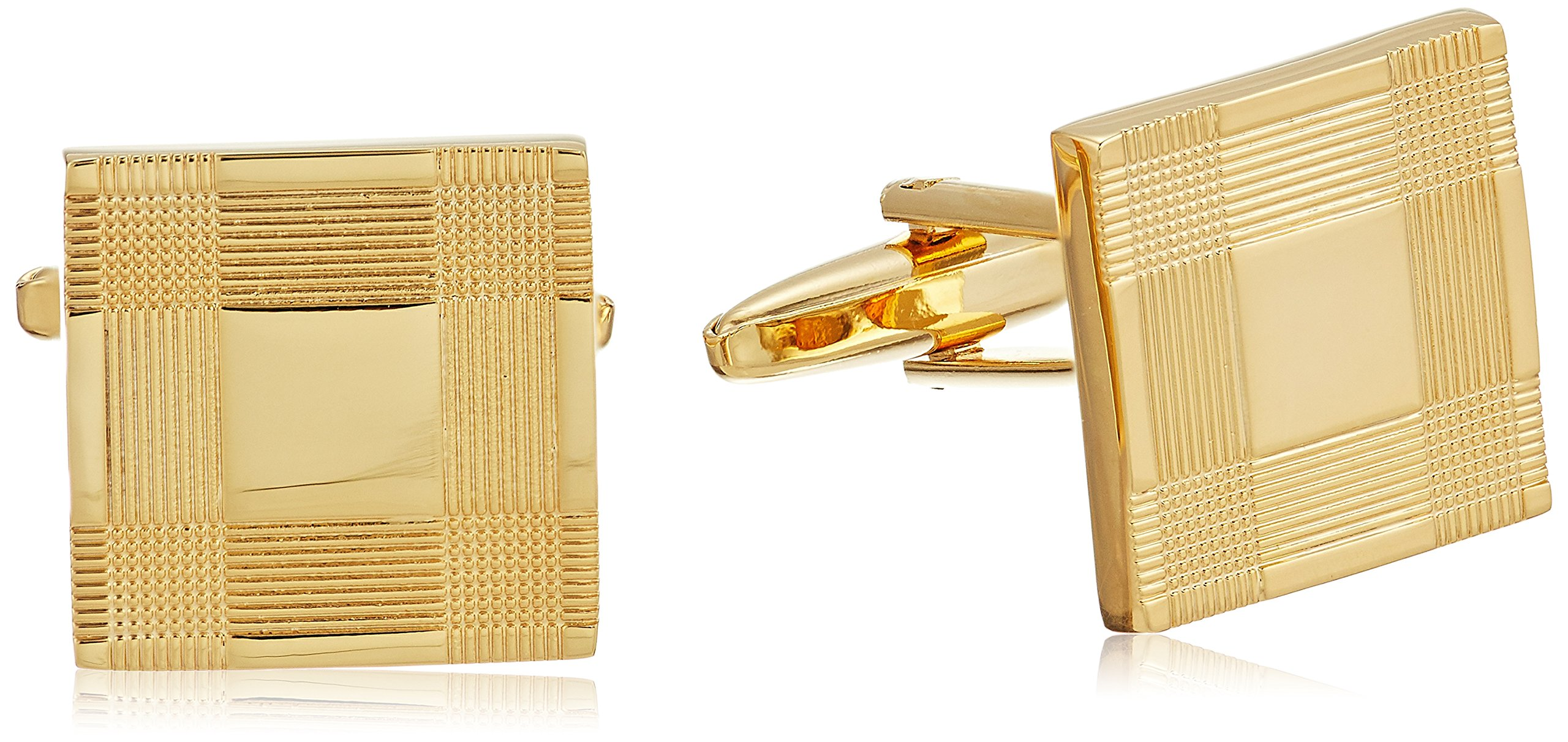Stacy Adams Men's Square Cuff Link, Gold, One Size