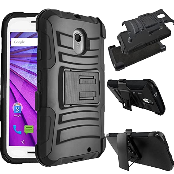 Motorola Droid Turbo 2 XT1585 / Moto X Force XT1580 Case [SlickGears Heavy Duty Shock