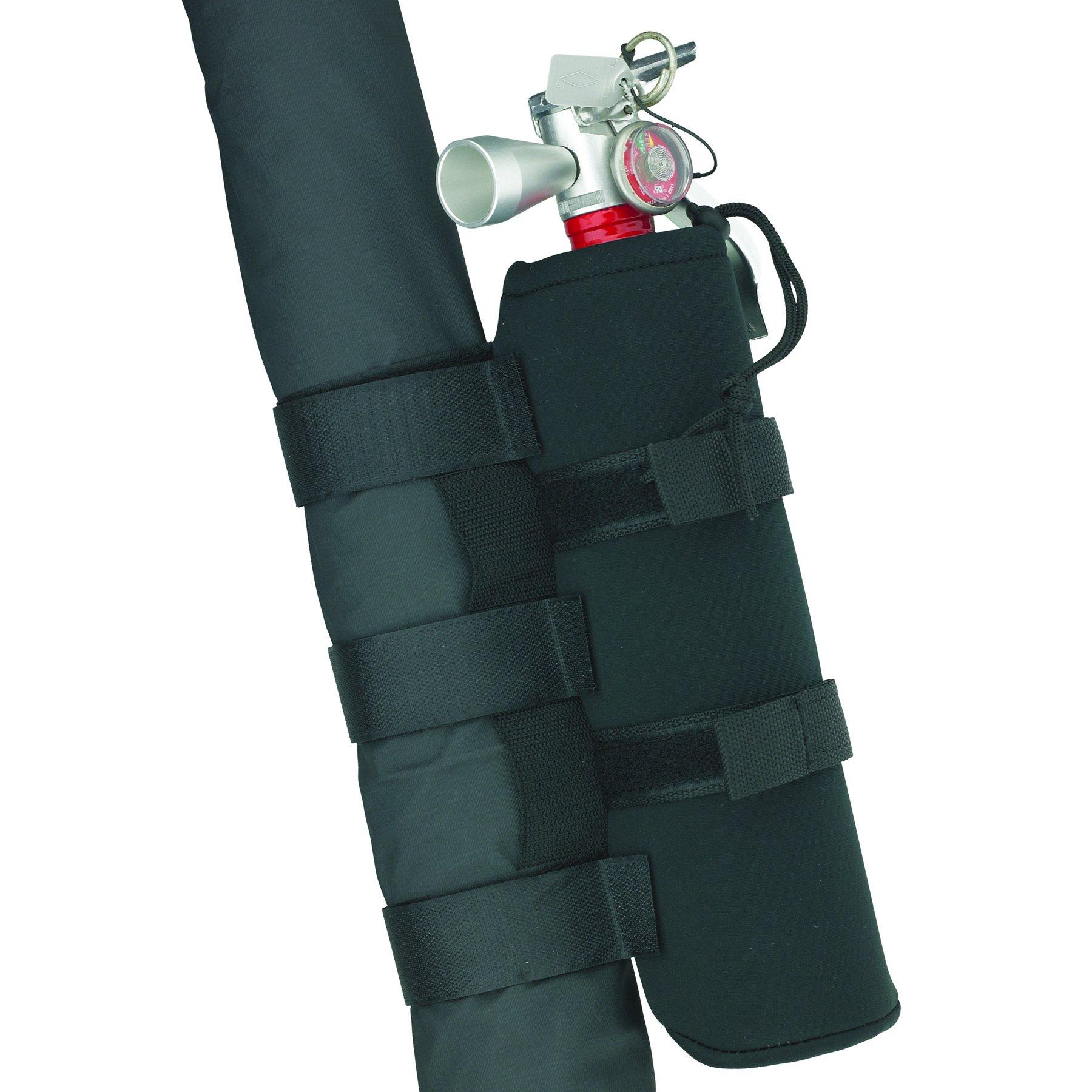 Smittybilt 769540 Black Roll Bar Holder for 2.5 lbs. Fire Extinguisher by Smittybilt
