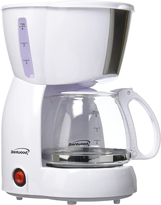 Brentwood 4 Cup Coffee Maker White Home Kitch