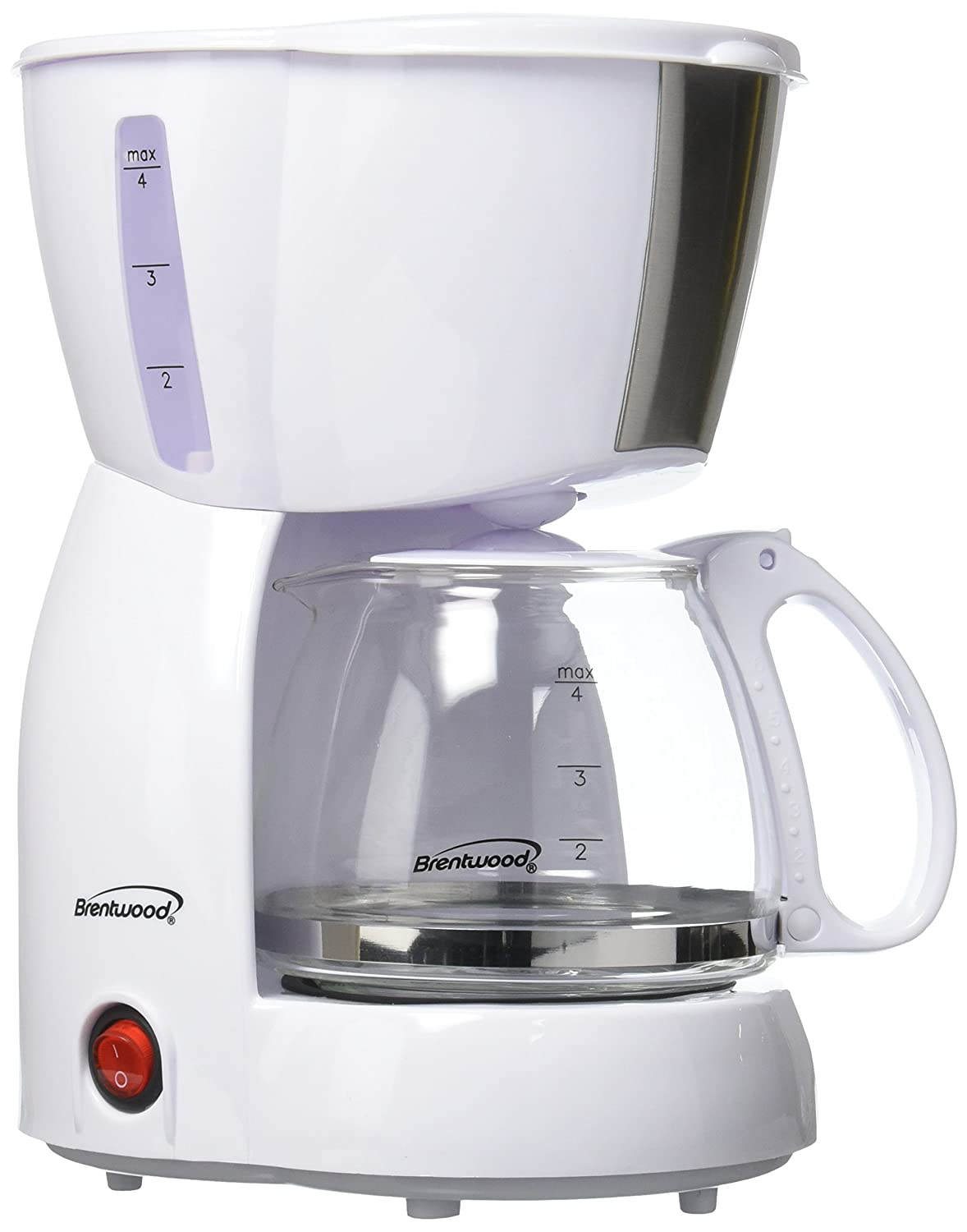 BRENTWOOD RA39141 4-Cup Coffee Maker (White), Multicolor