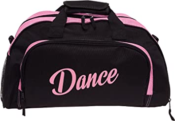 d174e2689125 Image Unavailable. Image not available for. Color  Silver Lilly Womens  Nylon Dance Duffel Gym Bag w Shoe Compartment (Black Pink
