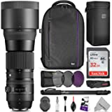 Sigma 150-600mm 5-6.3 Contemporary DG OS HSM Lens for CANON DSLR Cameras w/ Advanced Photo and Travel Bundle