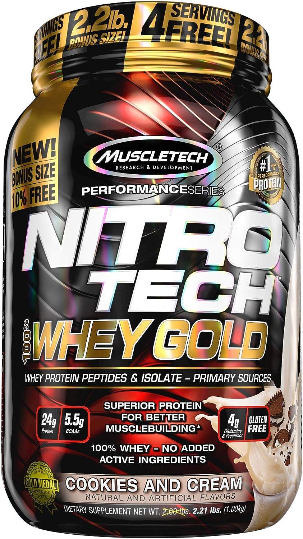 Muscletech Performance Series Nitro Tech 100% Whey Gold ...