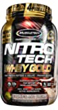 Nitrotech 100% Whey Gold 2.2Lbs Cookies and Cream (ナイトロテック100%ホエイゴールド 998g クッキー&クリーム) [並行輸入品]