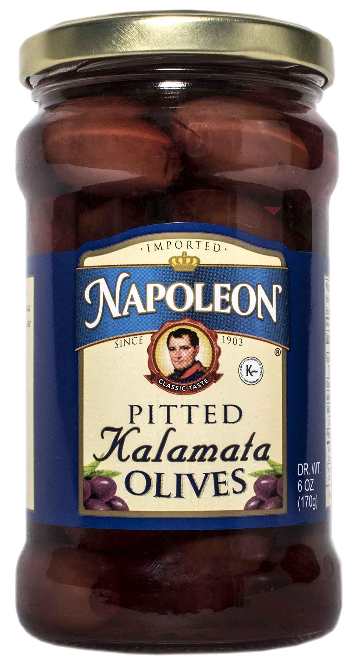 Napoleon Pitted Kalamata Olives, 6 oz