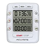AcuRite Triple Event Digital Kitchen Timer with