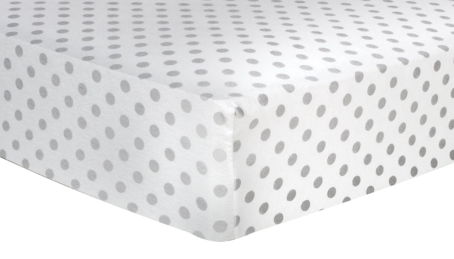 ​Trend Lab Gray Dot Deluxe Flannel Fitted Crib Sheet