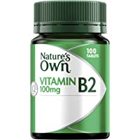 Nature's Own Vitamin B2 100mg - Supports Energy Production - Acts as Coenzyme - Assists Metabolism