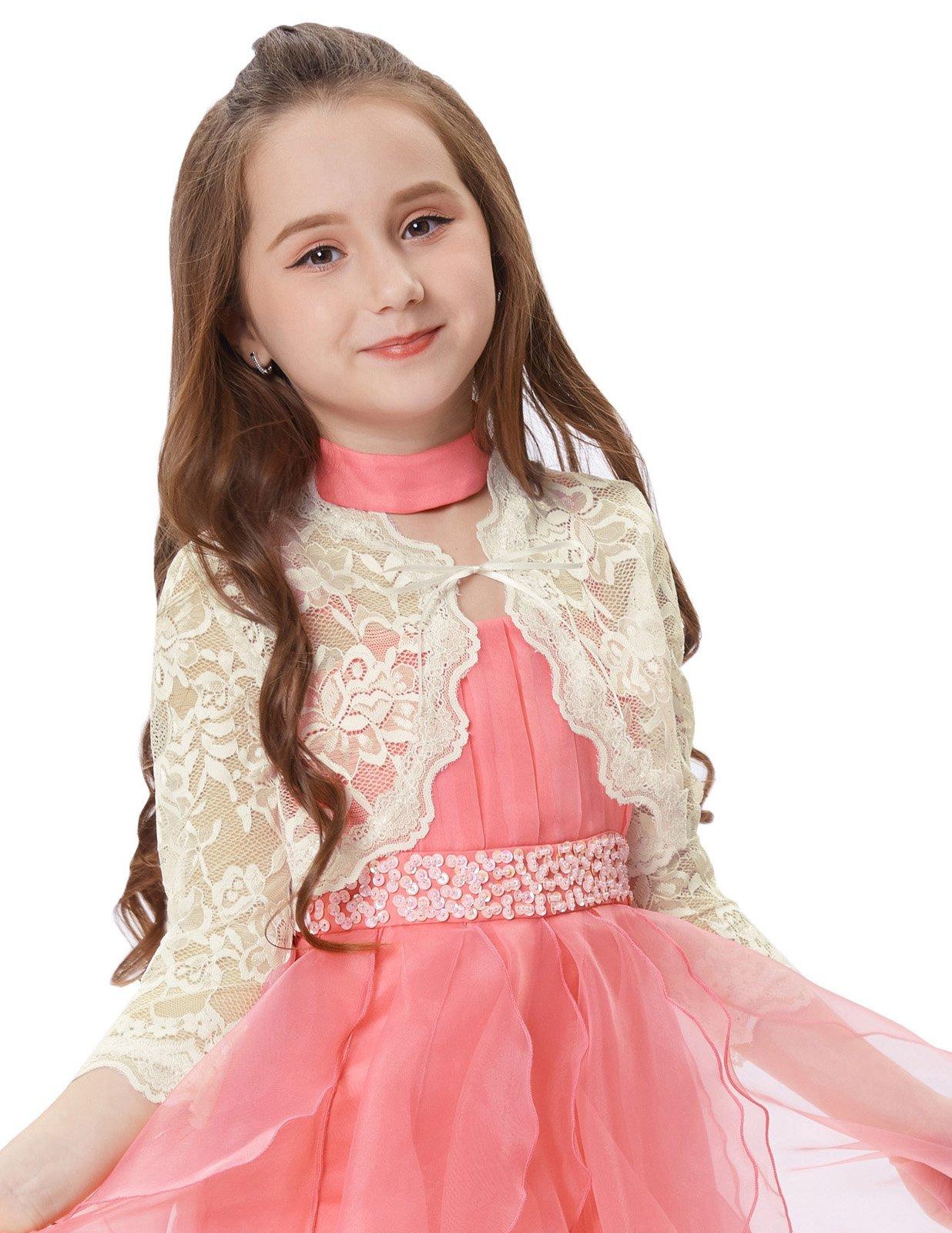 GRACE KARIN Little Girls Shrug Bolero for Dresses Long Sleeve Cardigan 11~12yrs CL664-4