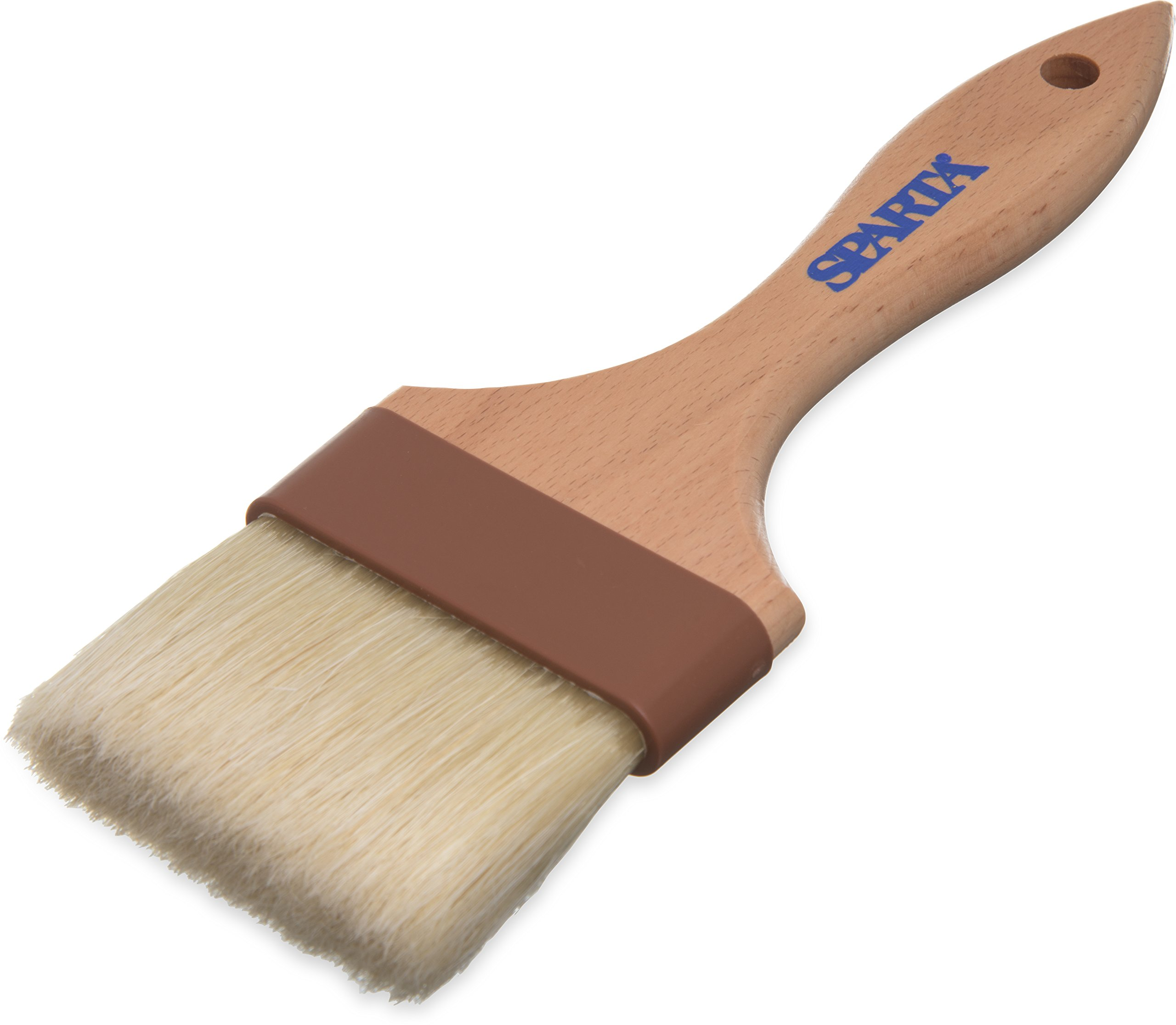 Carlisle 4037500 Sparta Wide Flat Basting Brush with Boars Bristles, 3'' by Carlisle