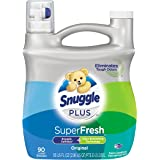 Snuggle Plus Super Fresh Liquid Fabric Softener with Odor Eliminating Technology, 95 Fluid Ounces (Packaging May Vary)