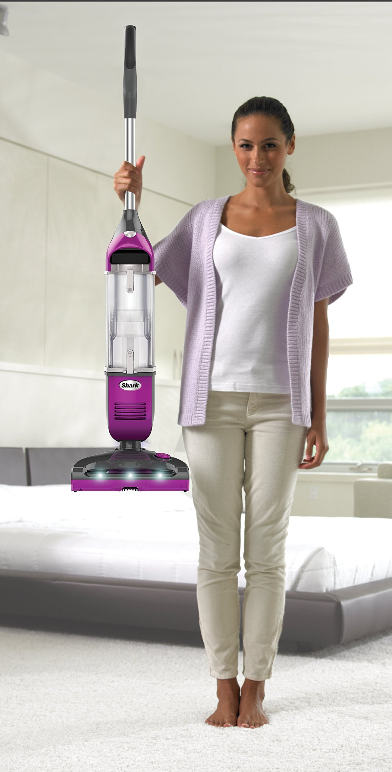 Shark Rotator Freestyle Stick Cordless Vacuum for Carpet, Hard Floor and Pet Hair Pickup with XL Dust Cup and 2-Speed Brushroll (SV1112), Fuchsia by SharkNinja (Image #5)