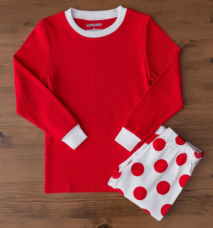 d6c2d23db7 AMGLISE Christmas Pajamas Set Santa Claus Cotton Pajamas for Boys Girls  Kids Pjs Toddler Sleepwear