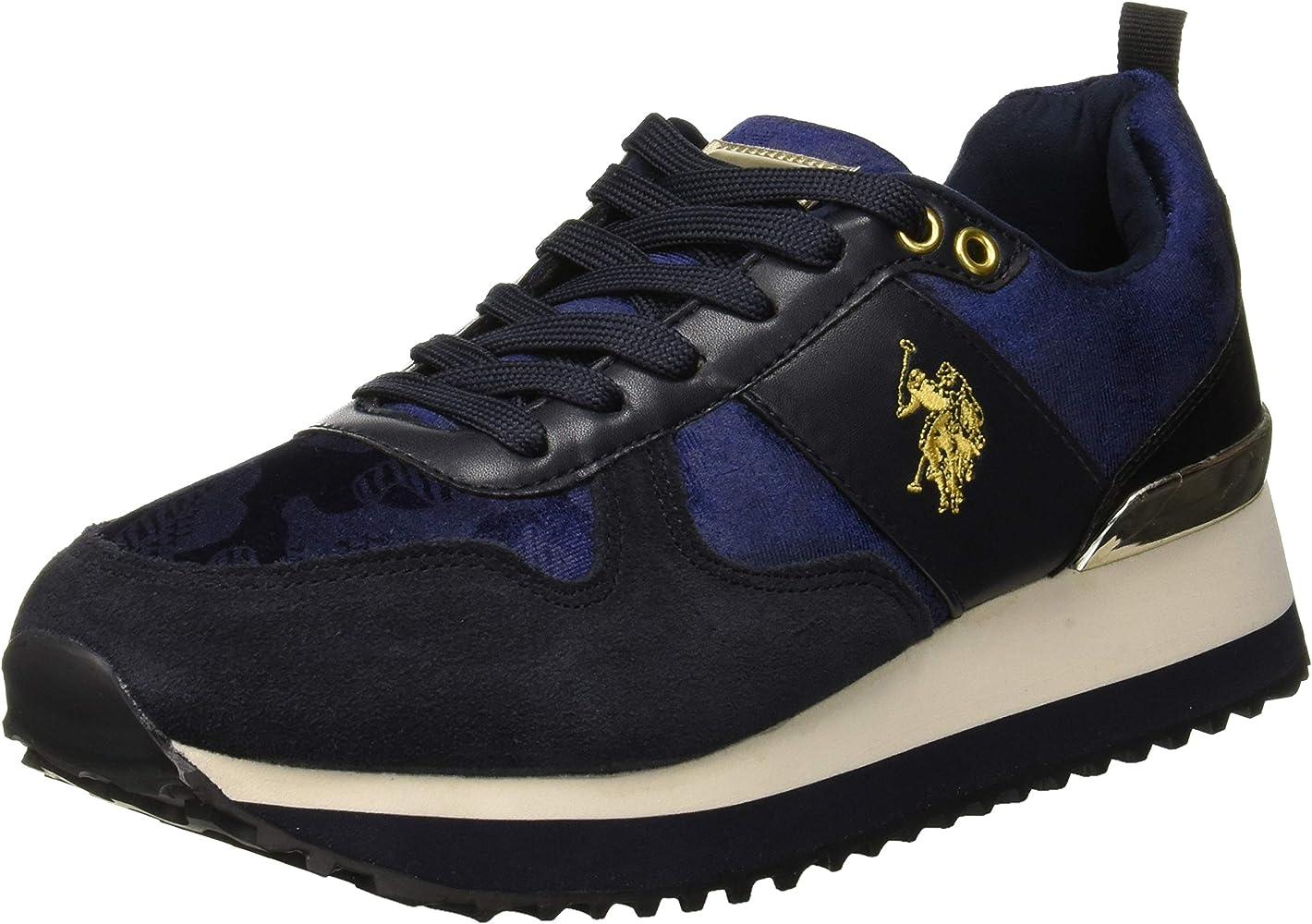 U.S.POLO ASSN. TABITHA1 Velvet, Zapatillas para Mujer, Azul (Dark ...