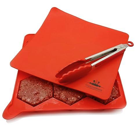 Cuisineware hamburguesas Patty Maker Set- mejor 8 en 1 100% silicona de grado alimenticio