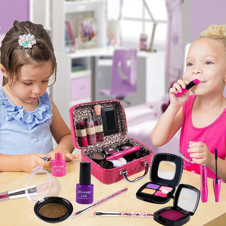 Tacobear Maquillaje Ni/ñas Juego de Maquillaje Kit Juguete de Maquillaje Lavable con Bolsa de Maquillaje Cosm/ética Juguete Cumplea/ños Regalo Navidad para Ni/ña 3 4 5 6 7 8 a/ños