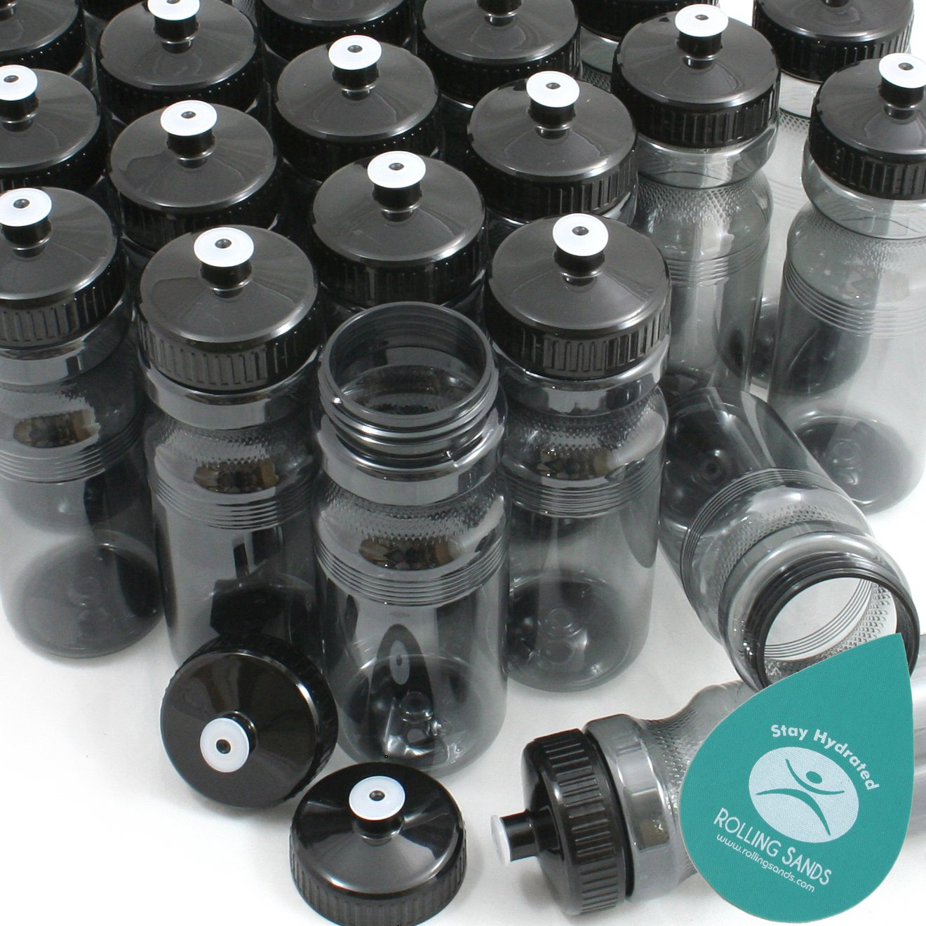 Made in USA Rolling Sands BPA-Free 24 Ounce Water Bottles Bulk 100 Pack