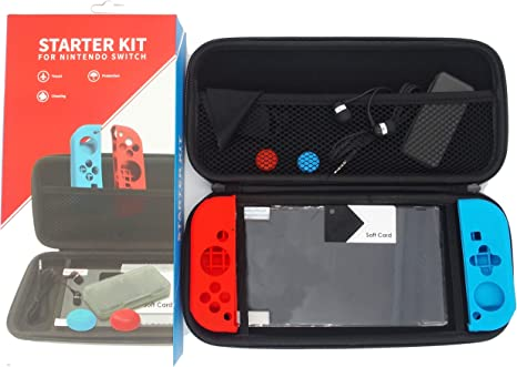 Funda protectora con accesorios para Nintendo Switch. Funda sólida ...