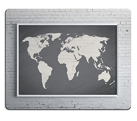 Amazon wknoon gaming mouse pad custom gray world map poster wknoon gaming mouse pad custom gray world map poster large vintage map print modern home gumiabroncs Gallery